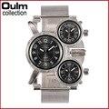 2016 3-Movt Militar Homens relógios de Marca de Quartzo Relógio Grande Mostrador do Relógio de Aço Inoxidável Prata Coleção mens Watch relogio masculino