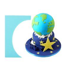 Полезный скребок для торта, помадка, шпатель для торта, плавное мягкое лезвие для торта, инструмент для украшения торта P