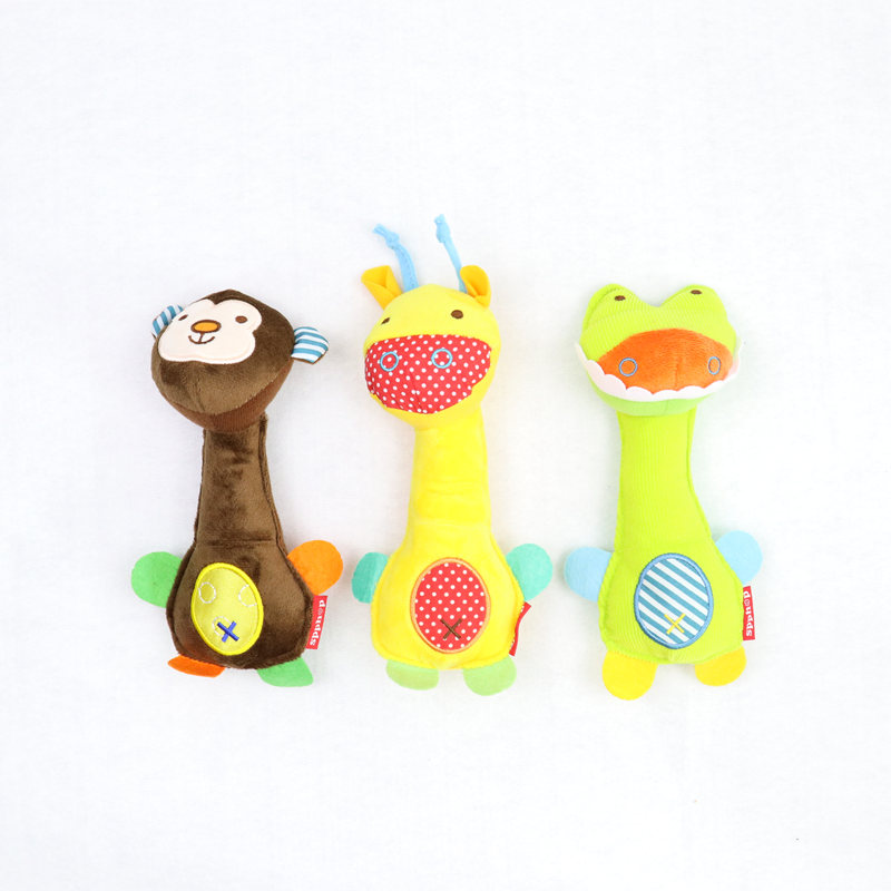 Nyfødte Leker Baby Rattle Soft Animal Model Plysj Toy Rattle BB - Baby og småbarn leker