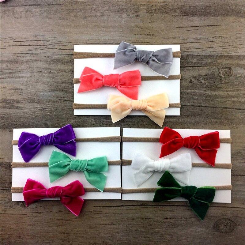 3pcs / lot אופנה Headwear צבעוני Headbands של בנות - ביגוד לתינוקות