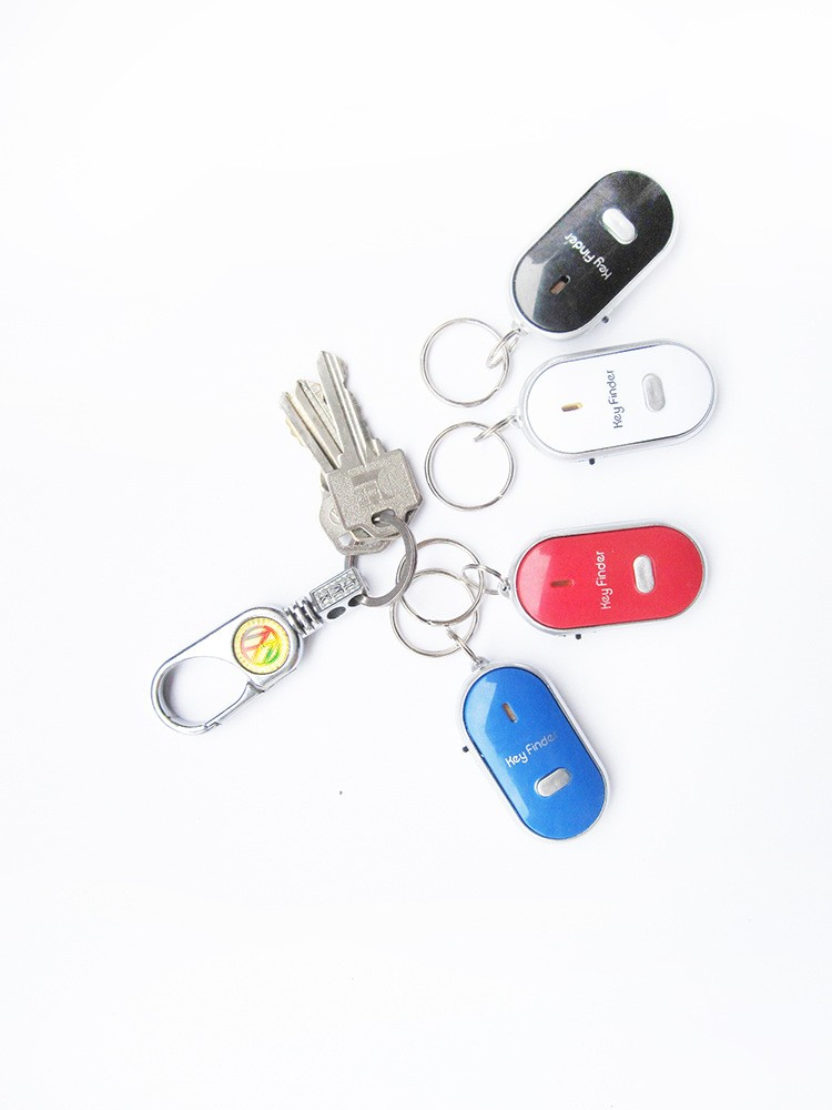 5pcs Keyfinder Sound Control Whistle Locator Key Finder with keychain,free shipp