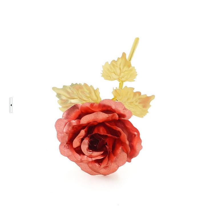 Regalo de navidad Rosa dorada Decoración de boda Flor dorada Regalo - Para fiestas y celebraciones - foto 6