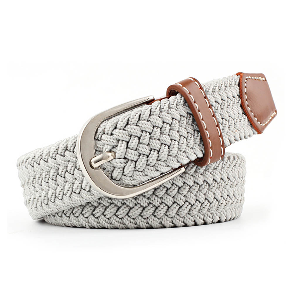 Hot Women Canvas Belts Canvas Waist Belts Ladies Casual Elastic Waistband 2019 Simple And Stylish Thin Woven Waist Straps