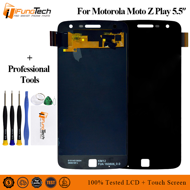 Tracking No. 100% tested For Motorola Moto Z Play <font><b>LCD</b></font> For <font><b>XT1635</b></font> Display <font><b>LCD</b></font> Screen Touch Digitizer Assembly image