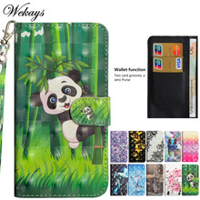 Wekays For Sony Xperia XZ2 Case Cute Cartoon Panda Leather Flip Funda Case For Coque Sony XZ2 H8216 H8266 H8296 Cover Cases XZ 2