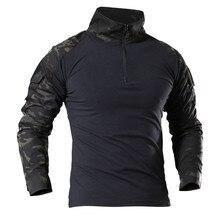 Тактическая рубашка в стиле милитари для мужчин с длинным рукавом Solider армейские рубашки Мультикам Униформа лягушка костюм футболки боевая одежда для мужчин