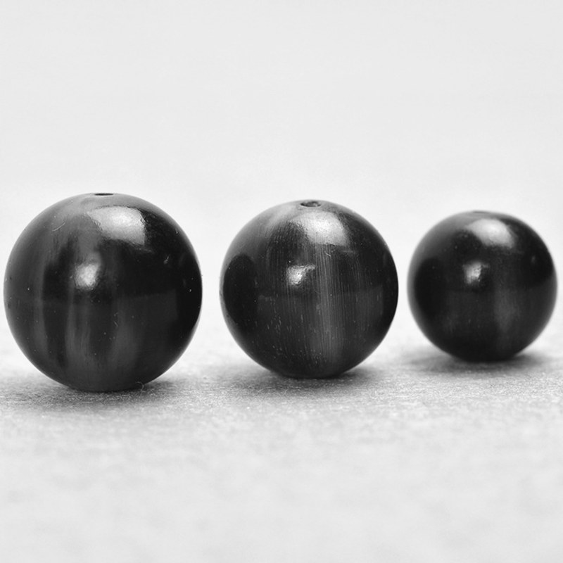 Loose-Beads Round 10beads-Lot Natural Wholesale Horn TSB0193 16/18/20/25mm Black