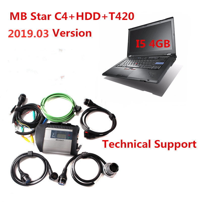 mb star c4 and hdd and t420
