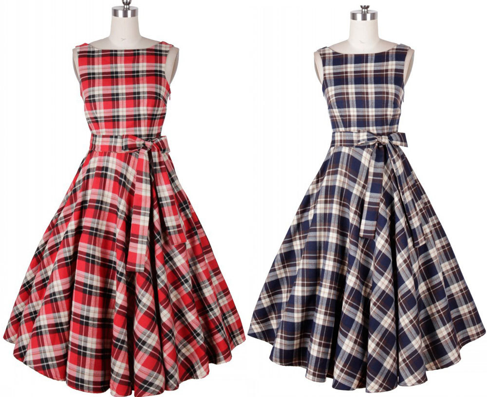 Online Get Cheap Plaid Maxi Dress -Aliexpress.com | Alibaba Group
