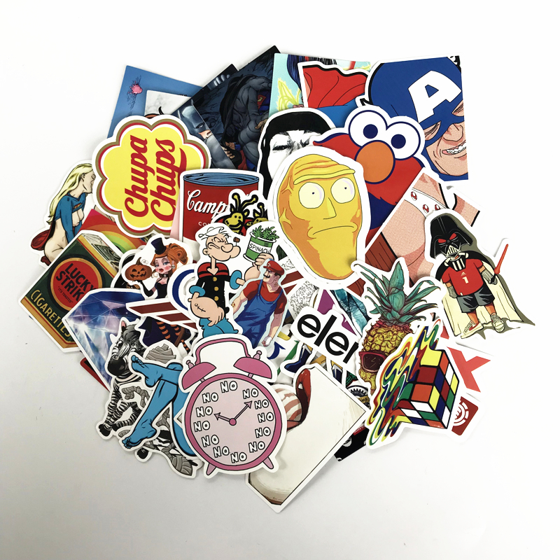 TD ZW 2019 50Pcs/lot Random Mixed Funny Stickers For Snowboard Laptop Luggage Car Fridge Car-Styling Vinyl Home Decor Pegatina
