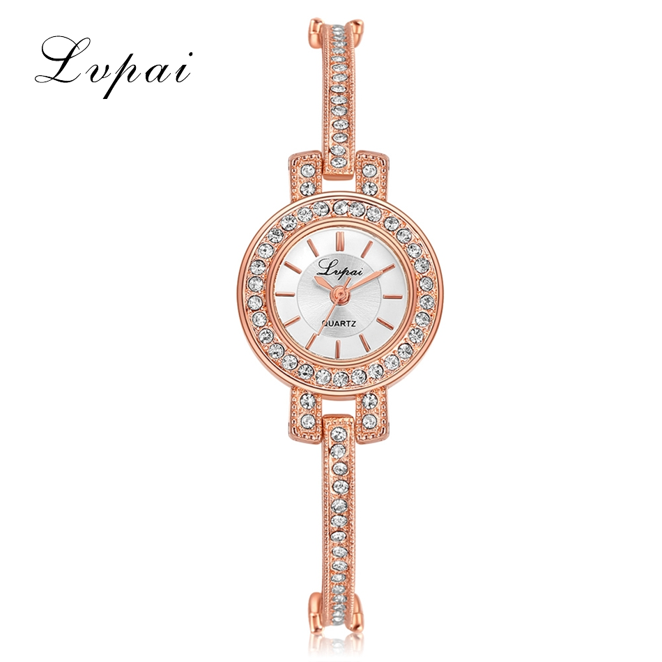 Lvpai Fashion Quality Crystal Diamond Bracelet Quartz Watches Woman Watches 2017 Brand Luxury Ladies Wrist Watches For Women lvpai ladies flower scarves bracelet watches women fashion diamond crystal quartz wrist watch woman leisure clock reloj yl