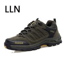 2018 escalada al aire libre zapatillas de deporte hombres zapatos de senderismo zapatos de botas de caza de combate de tacón medio zapatos de cuero Real