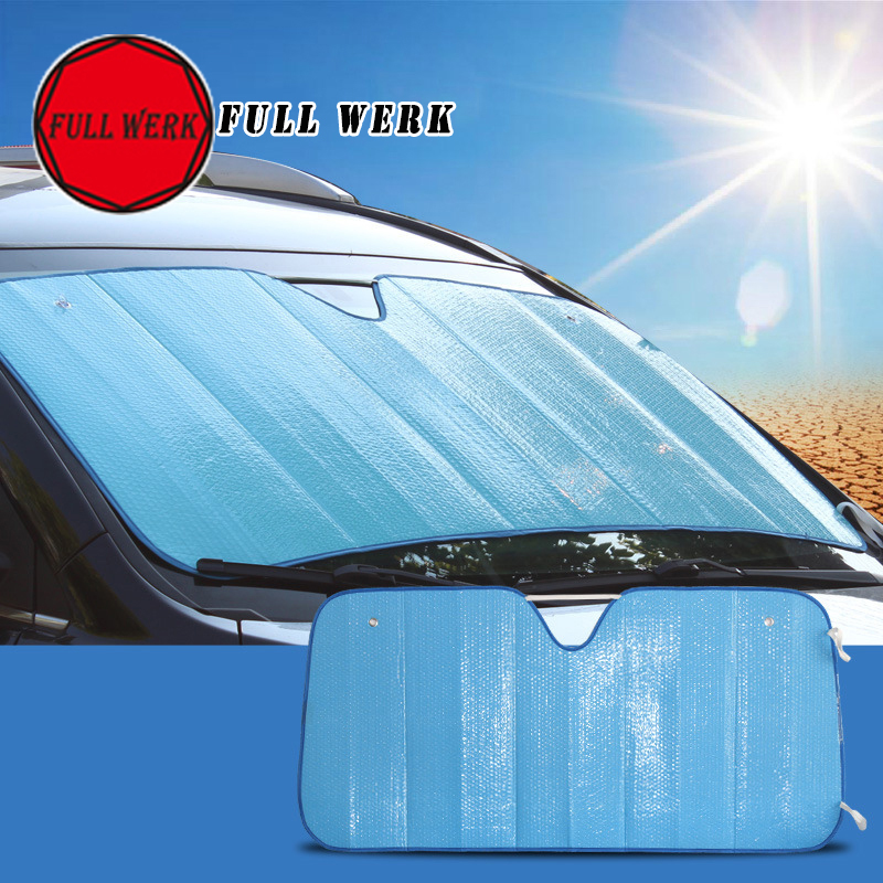 1pc Color Window Foils Windshield Sun Shade Car Visor Cover Block Front Window Sunshade Protect Film Picnic Seat Cushion