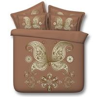 Oriental chino 3D juegos de cama de mariposa 3/4 unid 500tc colchas funda nórdica twin queen rey de tamaño natural de la armadura belleza ropa de cama