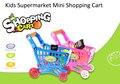 Niños Mini Supermercado Carrito De Compras De Plástico con Lleno de Comestibles de Alimentos Playset Juguetes para Los Niños