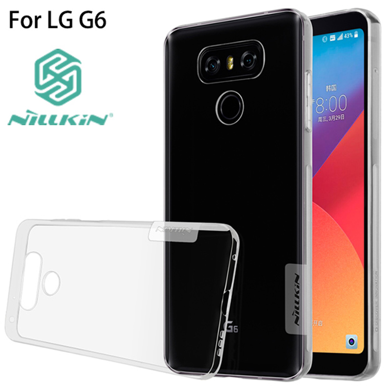 For LG G6 Case Original NILLKIN Nature Clear TPU Ultra Thin Case For LG G6 5.7 inch Soft Back Cover Case