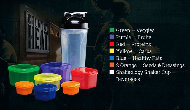 FF62 7 food portion control container for country heat 21 day fix