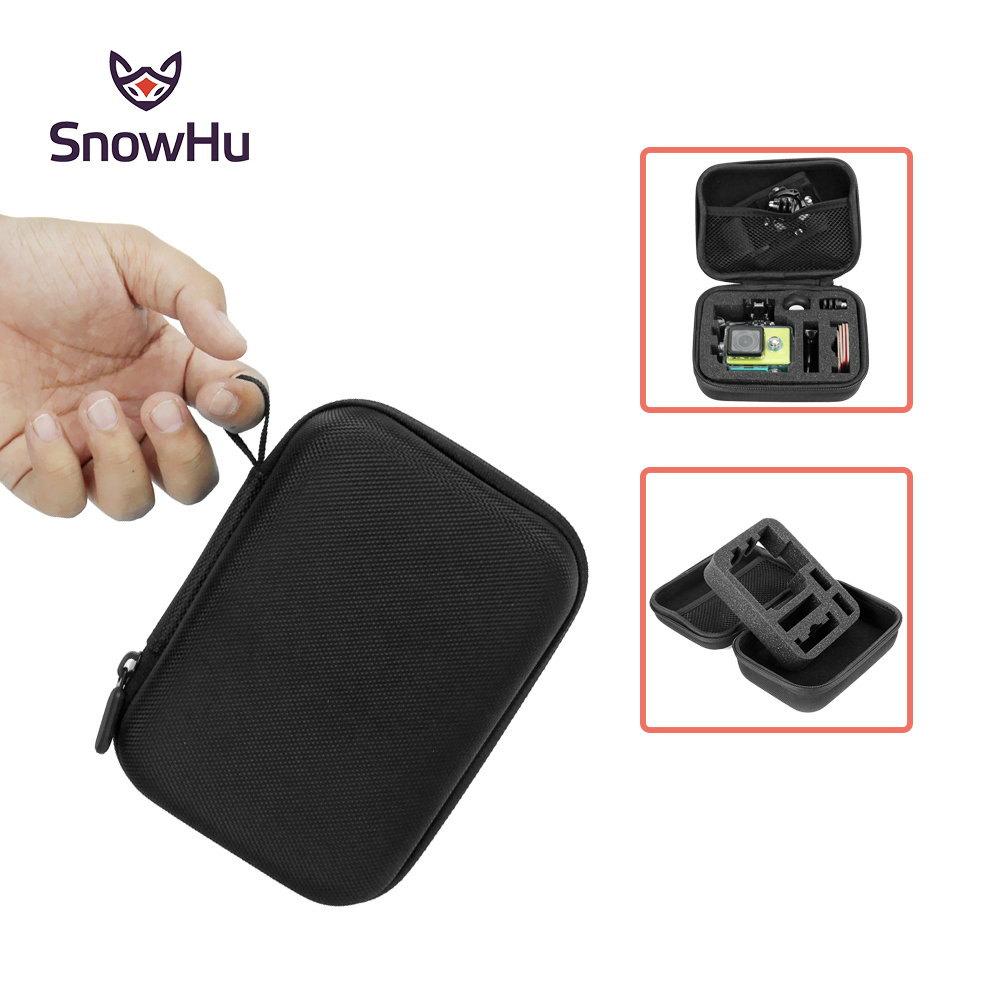 SnowHu for Gopro Accessories Small Storage Camera Bag Cover Box Protective Case For Go pro Hero 5 4 3+for Sj4000 Bags Box GP83 waterproof spark bag box case accessories for dji spark drone storage bag carry case