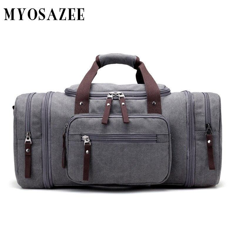 Llevar bolsas de equipaje de cuero de lona Hombres Bolsas de viaje - Bolsas para equipaje y viajes