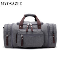 MYOSAZEE Brand Large Capacity Canvas Men Travel Bags Weekend Carry Leisure Waterproof messenger bags Women Travel Tote