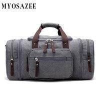 MYOSAZEE Brand Large Capacity Canvas Men Travel Bags Weekend Carry Leisure Waterproof messenger bags Women Travel Tote