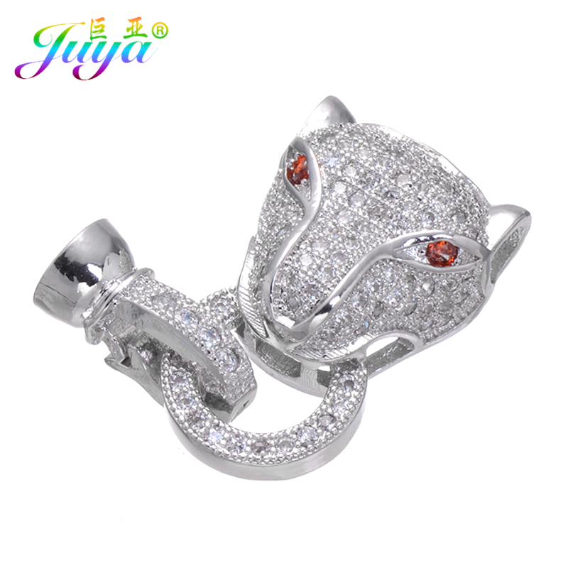 Beadwork Jewelry Components Leopard Head Fastener Hook Clasps For Natural Stone Crystals Bracelet Pearls Necklace DIY Making