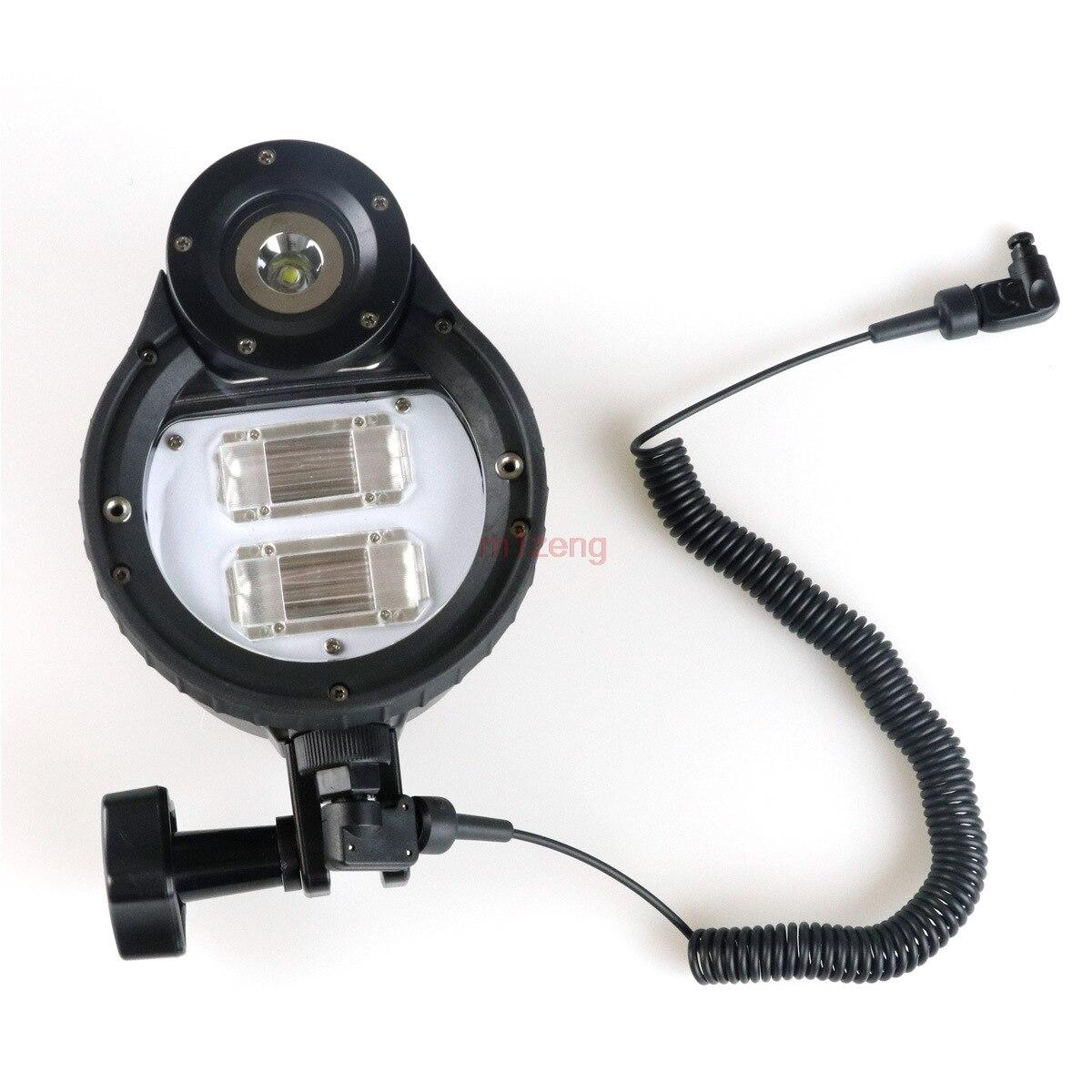 ST100 Flash Strobe underwater waterproof Light lamp For camera Housings Diving Case bag