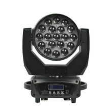 LED Zoom Moving Head Light RGBW Wash Effcect for Dj Light Disco Hotel Show Wedding KTV Bar LED Par Light Laser Light 19X15W(China)