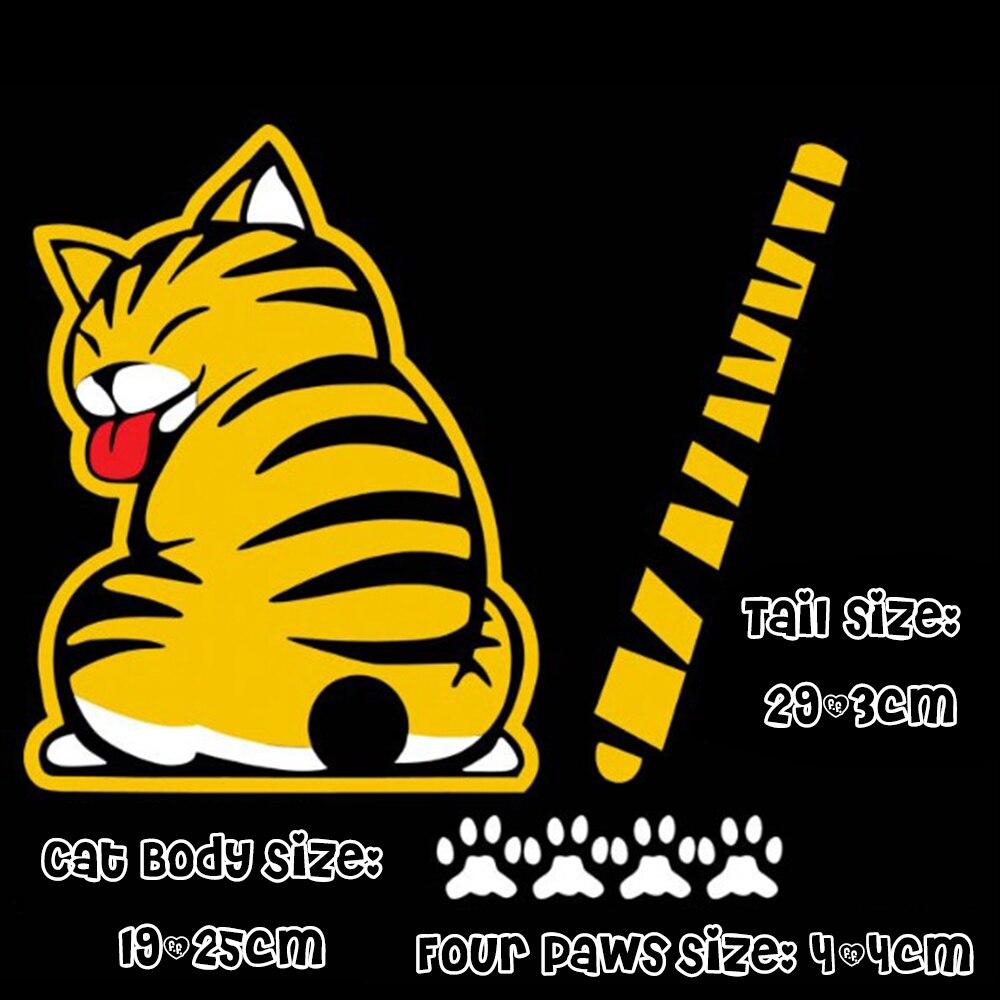Us 298 42 Offcartoon Katze Moving Schwanz Pfoten Fenster Reflektierende Folie 3d Auto Aufkleber Heckscheibenwischer Lustige Außerhalb