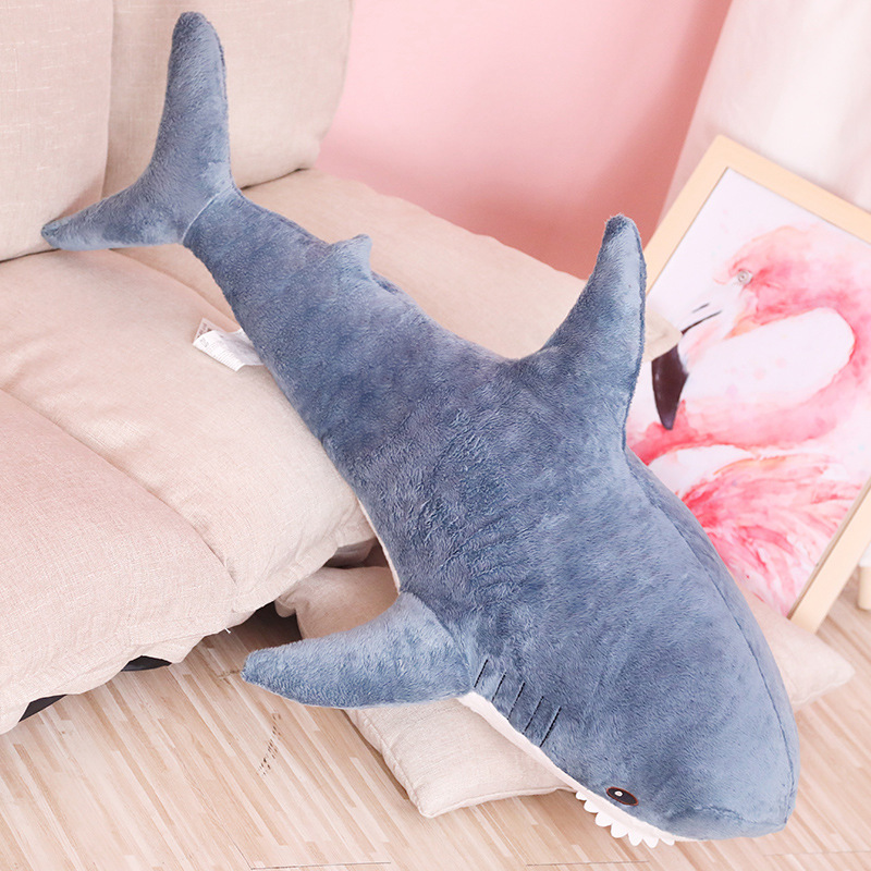60cm Plush Shark Toys Soft Stuffed Animal Russia Shark  Plush Baby Sleeping Pillow Simulation Animals Toy For Kids Birthday Gift