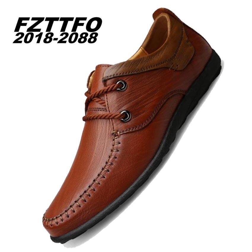Здесь можно купить   38-45 Big Puls Size Handmade Genuine Leather Flats Men