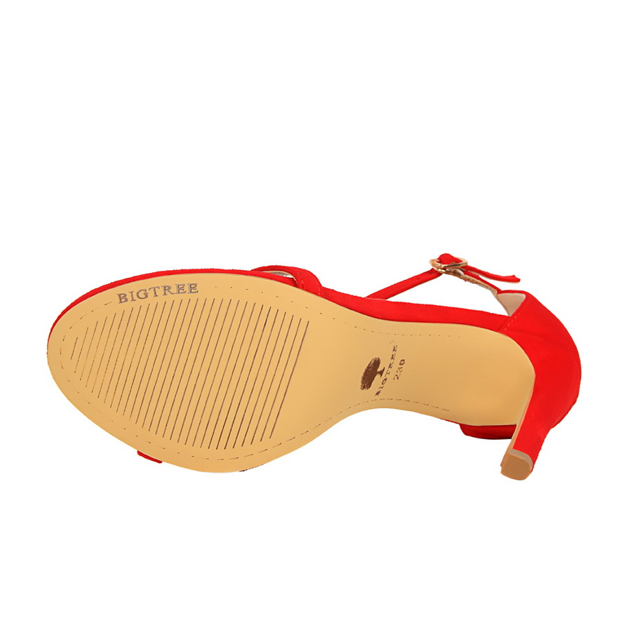 HTB1M.oHvr5YBuNjSspoq6zeNFXao 2019 Women Size 40 Flock Extreme 11cm High Heels Fetish Sandals Female Gladiator Cheap Strap Shoes Lady Nude Valentine Red Pumps