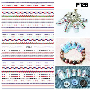 Image 2 - 1 sheet New Fashion 3D Nail Stickers colorful  Stripe Lines Nails Sticker  Striping Tape  Decorations Manicure Z067