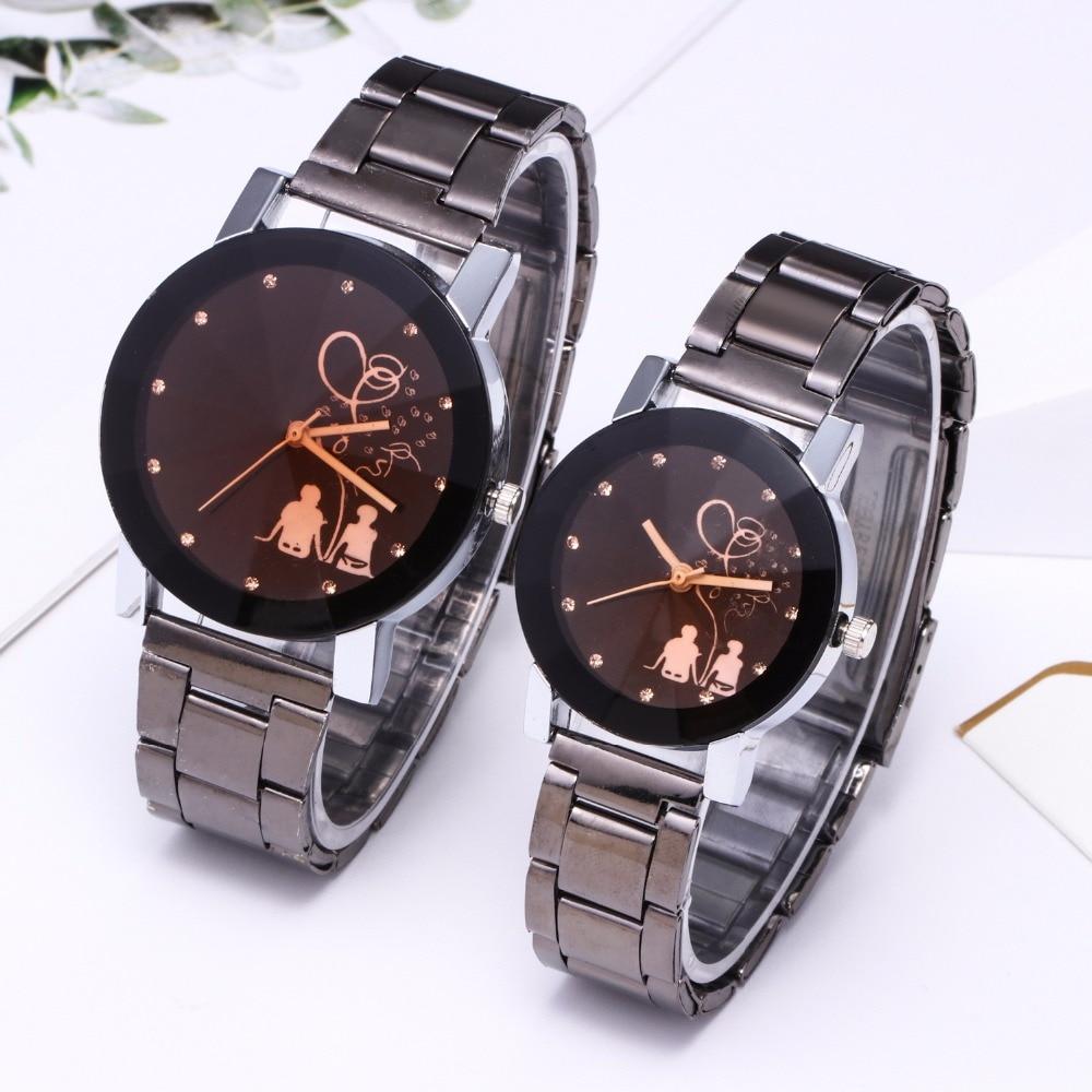 Splendid Original Luxury Watch Fashion Couple Watch Stainless Steel Men's Watch Women's Watches Beloved Clock Erkek Kol Saati