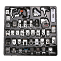 High Quality 42pcs Domestic Sewing Machine Presser Foot Feet Kit Set With Box For Brother Singer Janom Free Shipping