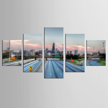 5 Panel Road landscape Painting Home Living Room Decoration Canvas Print Large Art framed Combined Oil Picture