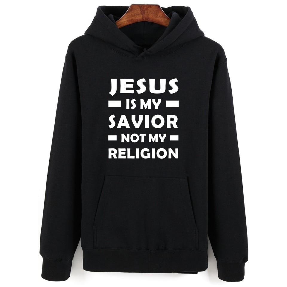 Иисус христианский с капюшоном Мужские толстовки и спортивные свитера модные черные толстовки и кофты для пар забавные Повседневное одежд...