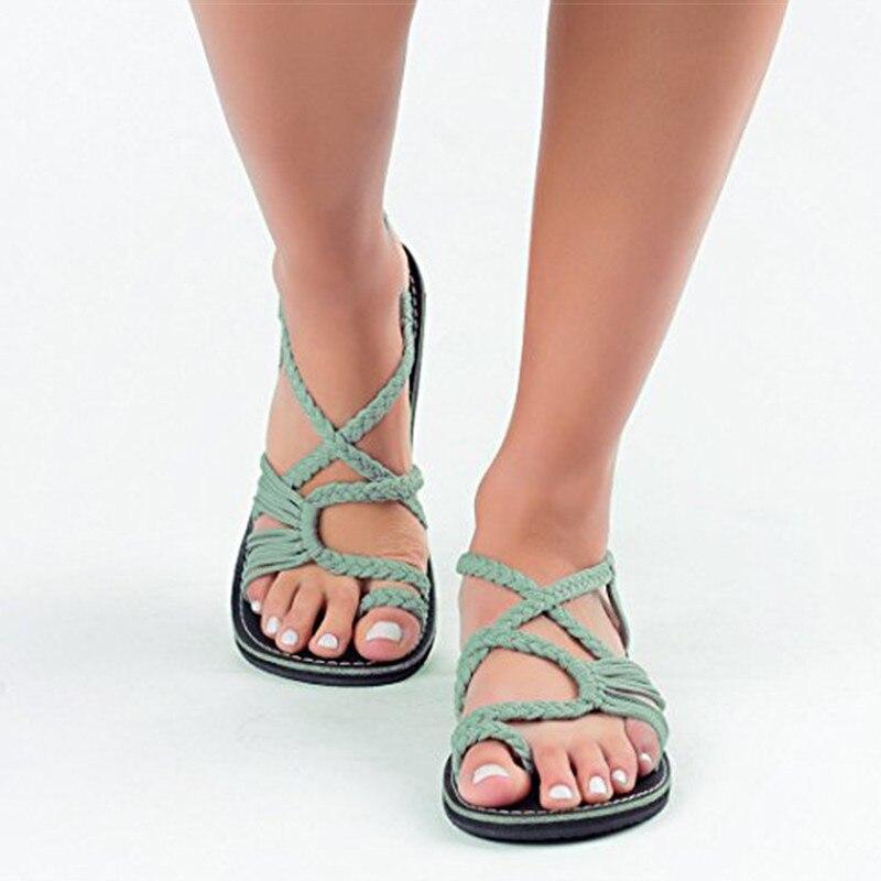 Women Sandals Plus Size 35-43 Comfortable Summer Shoes Woman Rome Style Beach Shoes Female Flat Sandals Ladies Chaussures Femme стоимость