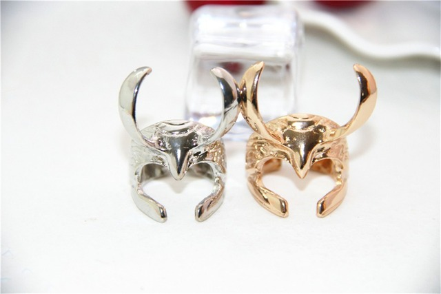 Fashion Jewelry Movie Charm Thor ring Thor The Dark World Loki Helmet Ring For M