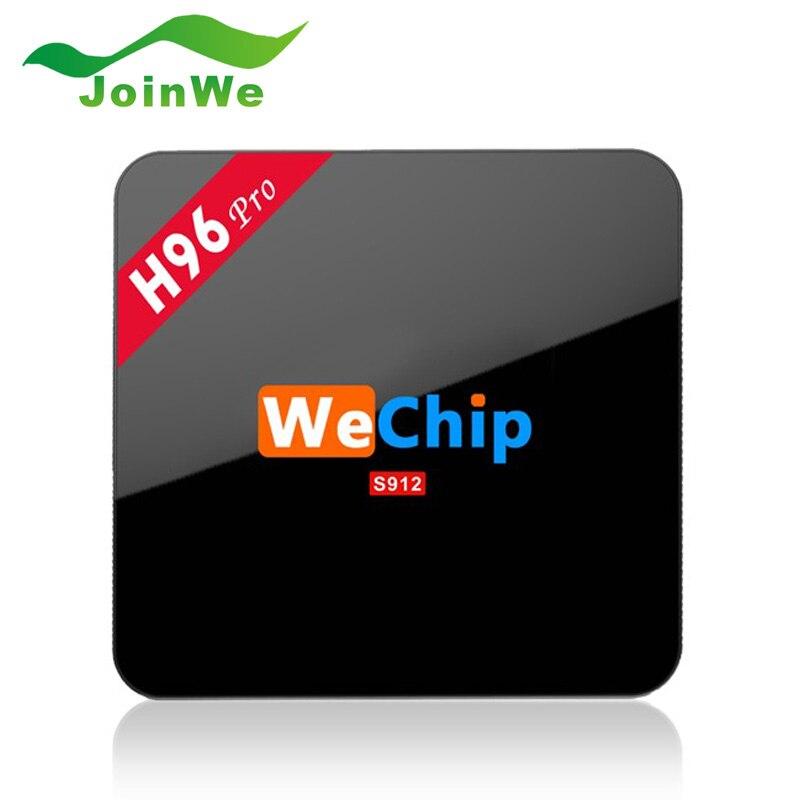 ФОТО H96 PRO - Wechip TV Box Android6.0 Amlogic S912 OctaMali-T820MP3 GPU 2G 16G 3G 16G wifi Gigabit 1000LAN Bluetooth4.0