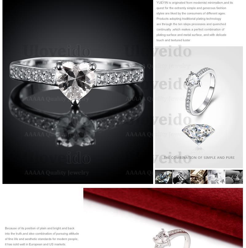 Aliexpresscom Buy Female Engagement Ring CZ Diamond Silver