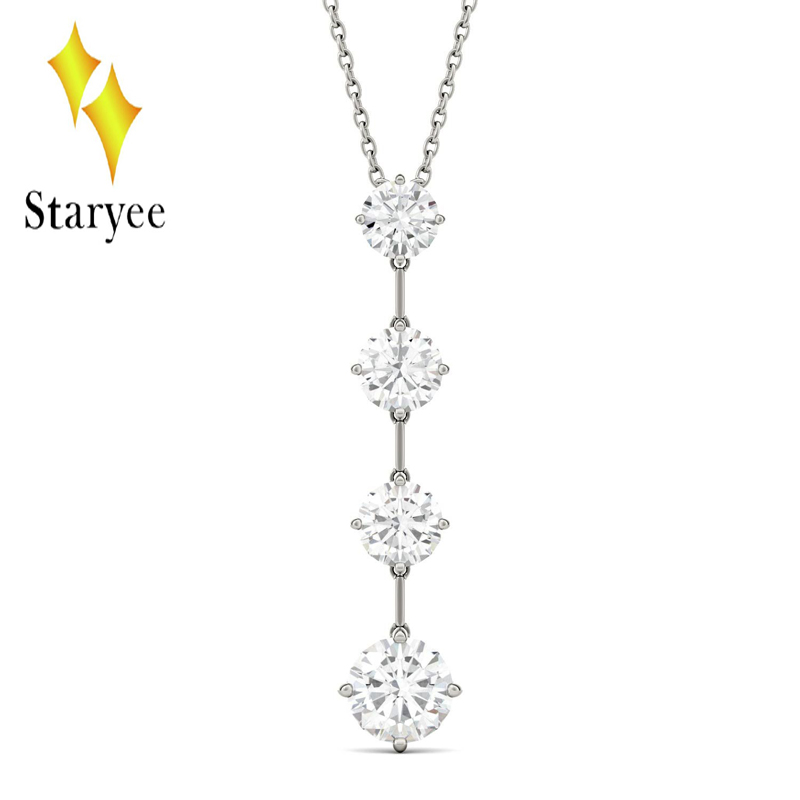 Charles Colvard Forever One 0.8CT Moissanite Drop Pendant Chain Necklace in Real 18k White Gold Jewelry charles white almack s revisited vol 1