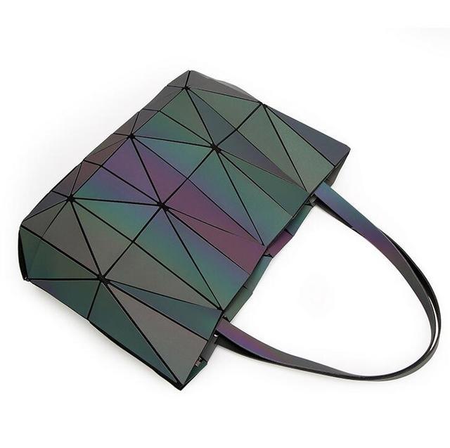New Bao Bao Women Luminous sac baobao Bag Diamond Tote Geometry Quilted Shoulder Bags Saser Plain Folding Handbags Diamond shape