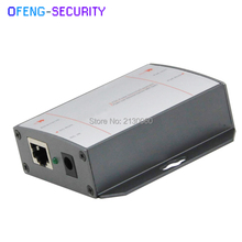 POE Injector 10/100M Single Port with 2x 10/100M RJ45 Ports and 1x DC Input Port(DC 12~32V). Each PoE Port Power is 15.4W