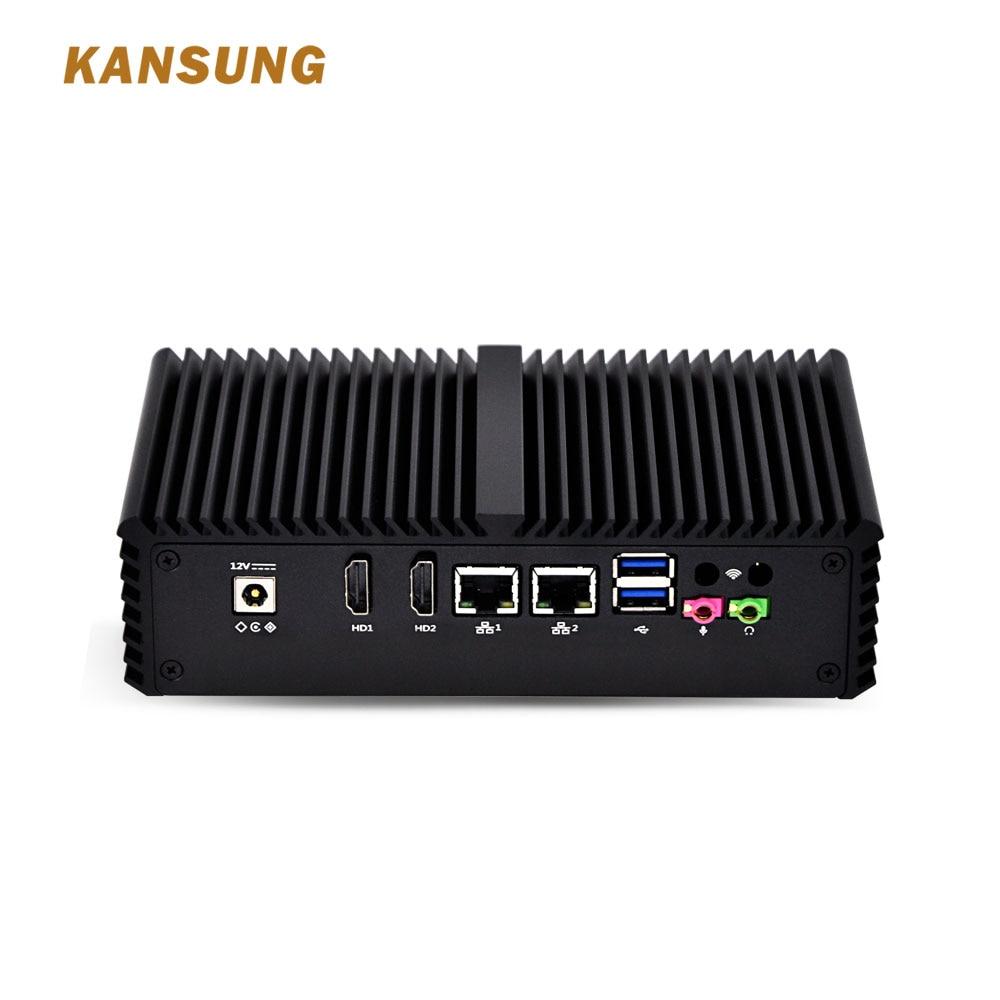 Fanless Mini PC Dual NIC Dual Display POS Machine Advertising Machine Cash Register Core I3 Handheld Computer Nettop HTPC Mini