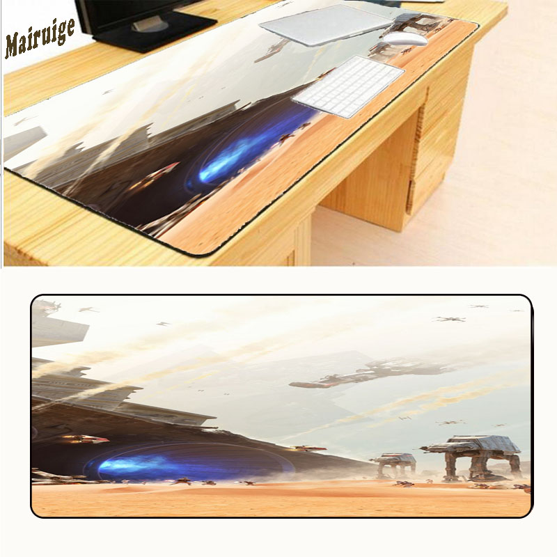 Mairuige Star War Mouse Pad 700X300X2MM Extra Large Mouse Pad Gaming Mouse Precision Lock Edge Mat Anime Mousepad Computer Desk