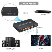 HDMI Audio Extractor Splitter HDMI To HDMI With Optical Toslink SPDIF Audio Converter DAC Dolby AC