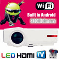 Android 4.42 5500Lumens1080P lamp WiFi Smart LED 3D home theater projector projektor Full HD Portable Video TV Beamer