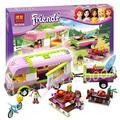 314 unids bela 10168 nuevas chicas amigos aventura campista olivia nicole ladrillos de construcción, bloques de los niños juguetes compatible con lego