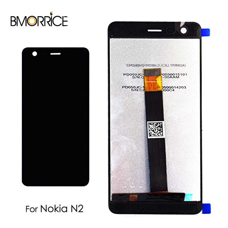 Original LCD <font><b>Display</b></font> For <font><b>Nokia</b></font> 2 N2 TA-1029 TA-1035 Touch Screen Digitizer Full Assembly Replacement 5.0'' <font><b>1280</b></font>*720 100% Tested image